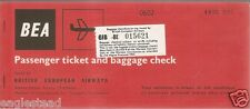 Airline Ticket - Bea - 2 Flt - 1969 - Cabotage Route Stamp (T189)