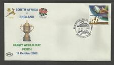 AUSTRALIA 2003 RUGBY WORLD CUP Souvenir Cover SOUTH AFRICA v ENGLAND 18/10/2003