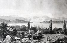 "TASMANIEN HOBART TASMANIA AUSTRALIA 1837 AUSTRALIEN ""TASMANIE VUE D´HOBART-TOWN"""