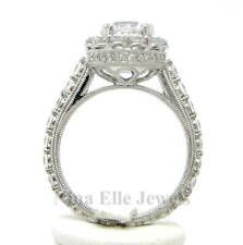 2.25ct Round Antique Diamond Engagement Ring With Halo