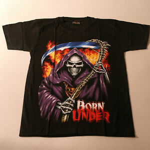 Quality T.Shirt With Skeleton Color In Front Black White At Back Size S -XL -XXL