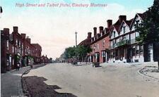 High Street Talbot Hotel Cleobury Mortimer unused old postcard by Valentines