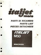 1982-84 Italjet M5D 50cc mini bike parts book COPY