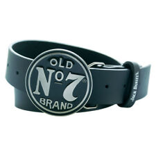 GA216170 JACK DANIEL'S Leather Belt Classic Old No.7 Circular Buckle Large