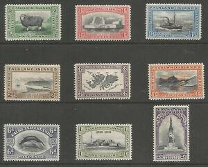 Falkland Islands SG127-34 THE 1933 KGV Centenary Set to 2/6d Fine Mint cat £501+