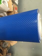 Best quality 4D BLUE Carbon Fibre Vinyl Wrap Sheet Film Sticker 30cm x 1.52m .