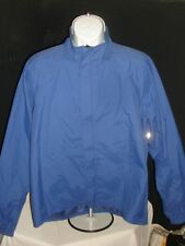 USA Made Bellwether Blue/Gray Nylon Coated Vented Rain Cycling Jacket Mens Sz. L