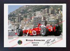 Michael Schumacher Ferrari signé autographe Motor Sport Memorabilia formule 1