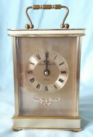 LONDON CLOCK Co BRASS CARRIAGE CLOCK working