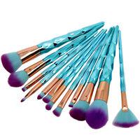 12Pcs Unicorn Makeup Brushes Set Foundation Blush Eye Shadow Concealer Brush Kit
