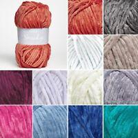 Sirdar Smudge Smooth Chenille Knit Knitting Yarn 100g Ball