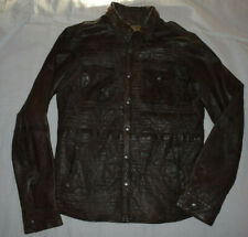 Pearly King Sheath Soft Brown Leather Jacket Size L