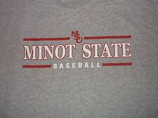 MINOT STATE University BASEBALL T Shirt Sz Large L Cotton Blend North Dakota