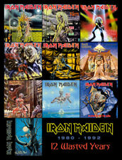 "IRON MAIDEN 12 Wasted Years (1980-1992) album discography magnet (4.5"" x 3.5"")"