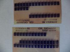n°h338 lot  2 microfiche d'epoque citroen c35  c32 n°212