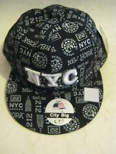 "Black ""NYC"" Baseball Cap, by City Big, Size 7 1/2, New (JLD)"