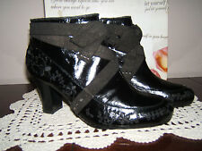 KENZIE BOOTS BOOTIES STEAMPUNK GOTHIC STUDS SEQUINS EMBROIDERED FLOWERS SIZE 10