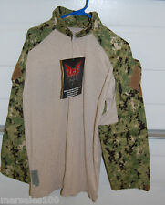 Military Crye Precision Combat Tactical Shirt DRIFIRE AOR2 Digital Camo LARGE
