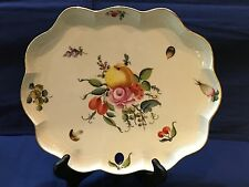 Herend Fruits and Flowers Scalloped Tray