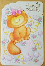 "Vintage / Retro ""Happy 1st Birthday card"""