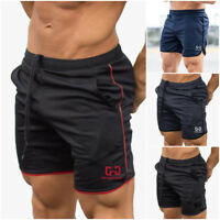 Men Sports Training Quick Dry Shorts Workout Fitness GYM Casual Pants Trousers