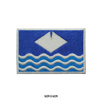 ISLE OF WIGHT County Flag Embroidered Patch Iron on Sew On Badge For Clothes Etc