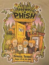 Rare Phish Pharewell Summer Tour 2004 T Shirt Tee Cotton Large