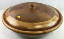 Laminated Wood Bowl With Lid Lot 2349