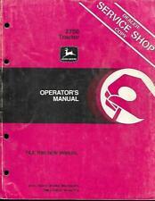 John Deere 2750 Tractor Operators Manual