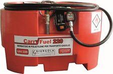 Serbatoio 220 Lt trasporto gasolio in polietilene con pompa inclusa carry fuel