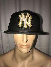 New Era NY YANKEE'S Black and Gold Beaded Logo Limited Edition Strapback Hat