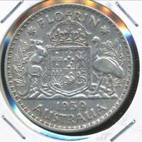 Australia, 1939 Florin, 2/-, George VI (Silver) - Very Fine