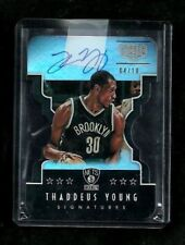 Thaddeus Young 15-16 Gala SIGNATURES Auto #/10! DIE-CUT! Pacers SP! ON-CARD Nets