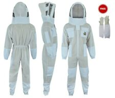 Bee Suit 3 Layer beekeeper beekeeping Suit ventilated fancing veil <L> Style#3