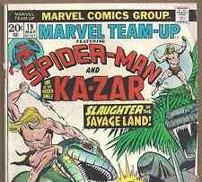 MARVEL TEAM-UP #19 Spider-Man Mark Jewler's Insert Variant from Mar..1974 in VG-