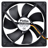 Pinfox 12V DC 120mm Quiet Cooling Fan Silent, Variable Speed Control by 5V to 3