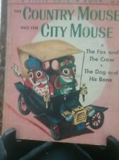 THE COUNTRY MOUSE AND THE CITY MOUSE Little Golden Book 1962 First Aust. Ed. G/C