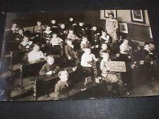 More details for old real photo postcard hemingford street school class birkenhead c1900s