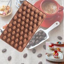 0284 Mini Coffee Bean Silicona Molde Pastel De Chocolate Candy Molde para Jabón