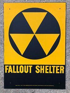 Vintage U.S. Civil Defense Fallout Shelter Sign - New Old Stock (NOS) !