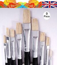 9x Artist Paint Brushes Set idel for Acrylic Oil Watercolour Painting Craft Art