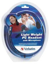 MULTIMEDIA Auricular Verbatim PC Auriculares Light Weight con micrófono 41684