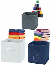 Foldable Square Storage Collapsible Cube Canvas Box Clothes Drawer Organiser Bag