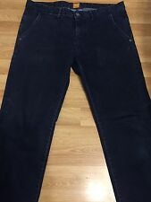 Luxury Hugo Boss Orange Uomini Jeans in denim pantaloni Pantaloni Blu W35 L39 IL30 RRP £ 150