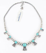 Lucky Brand Silver Tone Turquoise Tribal Bird Beaded Necklace JLRY3336