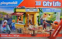 Playmobil 70336 Pizzeria mit Gartenrestaurant Lichterkette Grill Promopack NEU