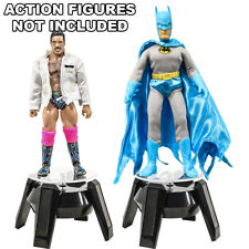Set of 2 Solar Powered Rotating Spinning Action Figure Displays