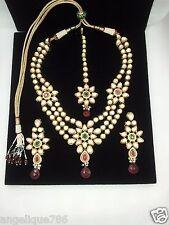 Indian Jodha Akbar TV Serial Bridal Kundan Necklace Earrings Tikka Set Gorgeous