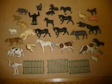 Vintage Britains plastic Farm and Zoo animals - Tiger / Polar Bear / Gorilla ( M