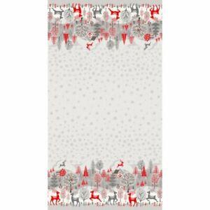 Makower Christmas Scandi 20 - Double Border - Grey - Fabric Cotton Xmas Quilting